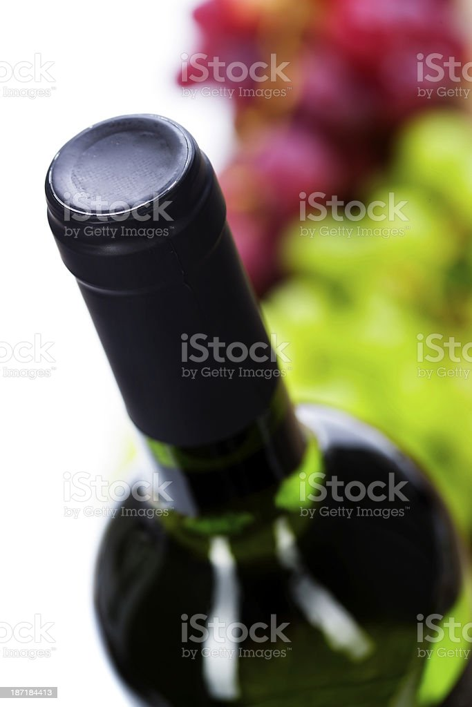 Wine and grape royalty-free stock photo