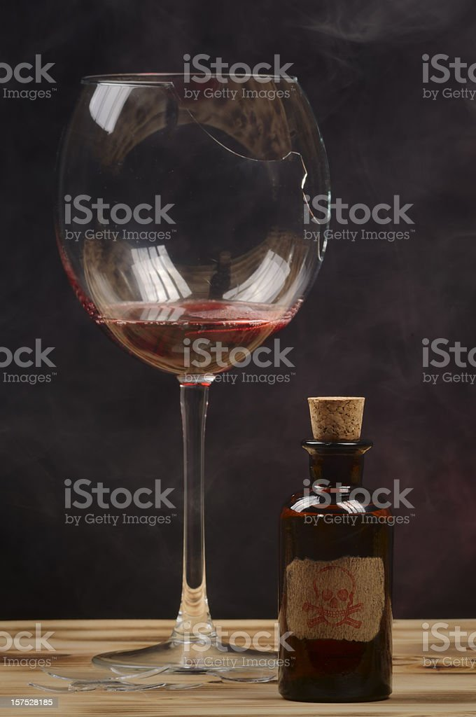 Wine and Poison royalty-free stock photo