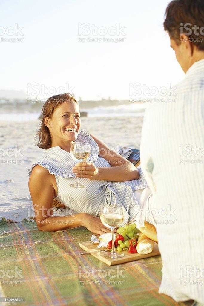Wine and romance royalty-free stock photo