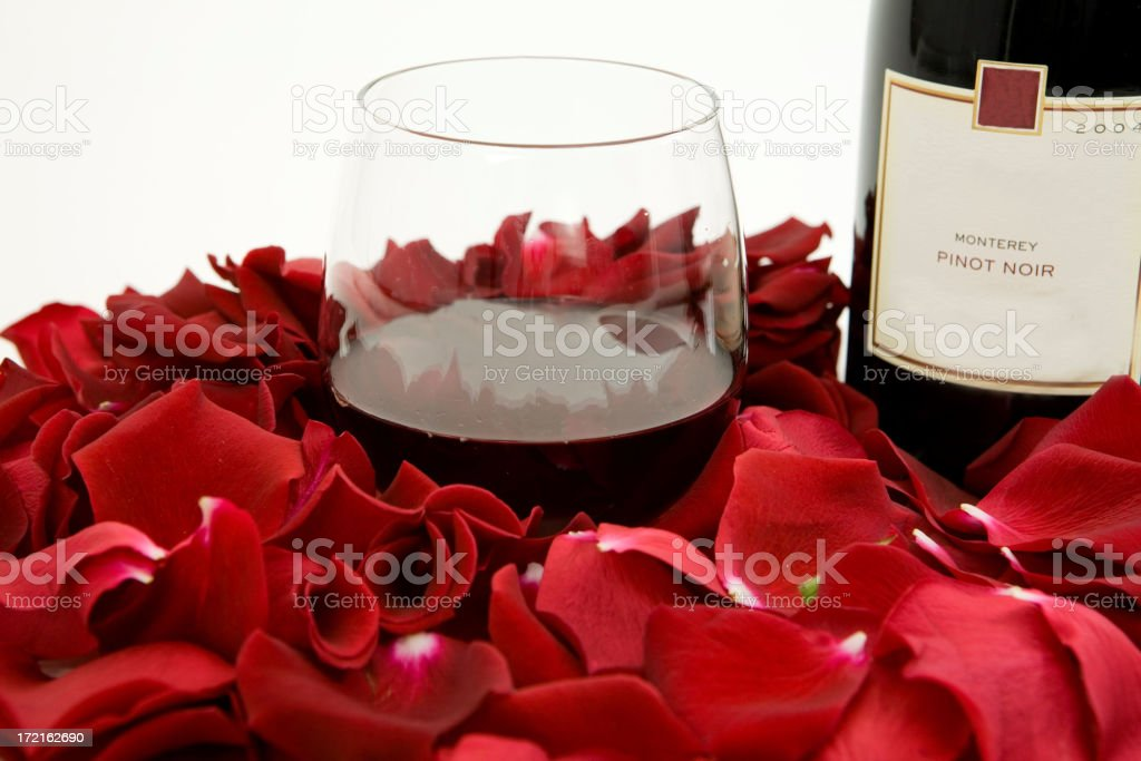 Wine And Roses royalty-free stock photo