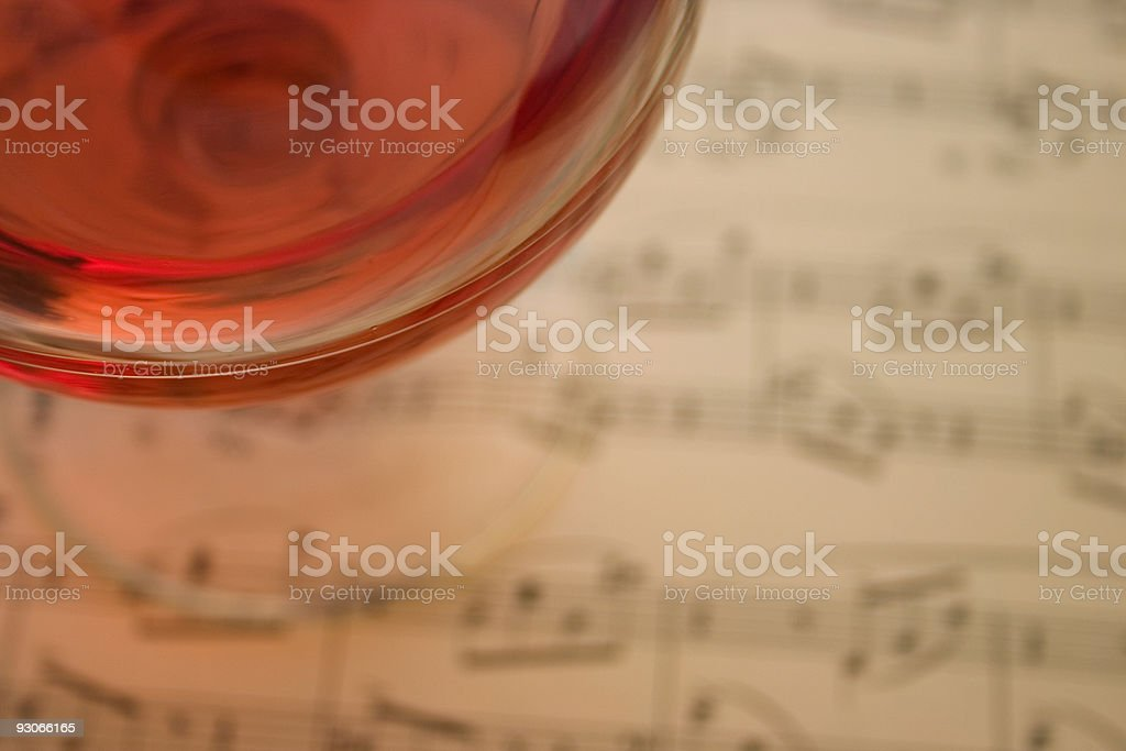 Wine and song royalty-free stock photo