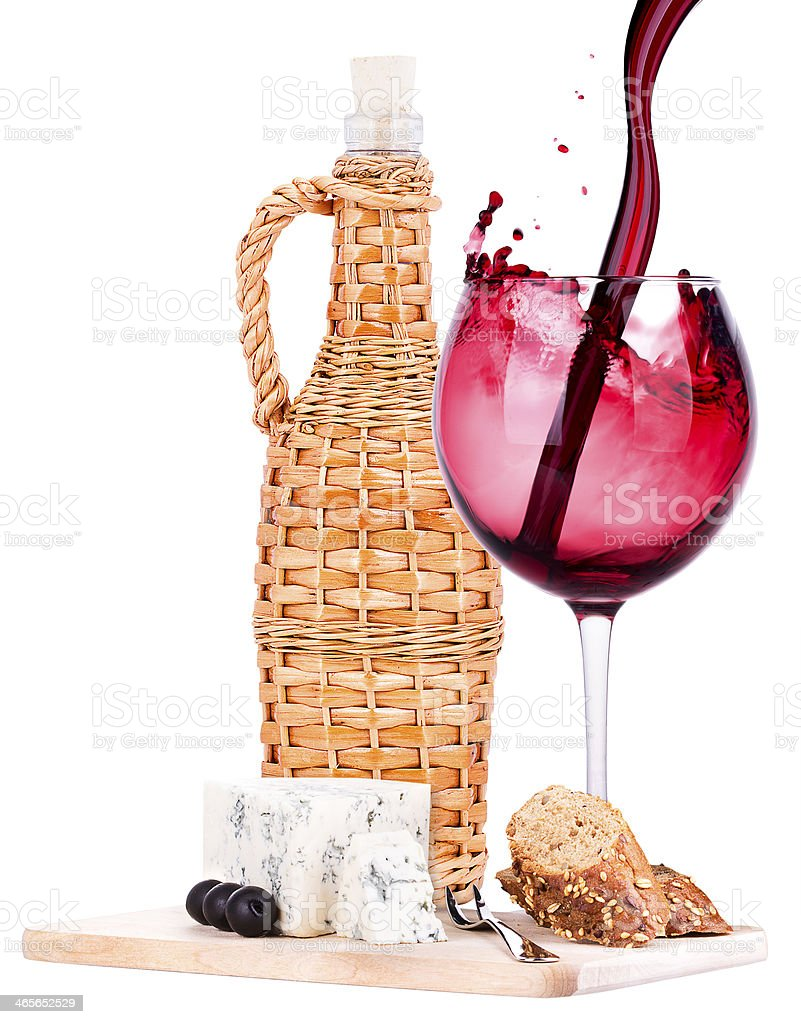 wine assortment cheese and grapes royalty-free stock photo
