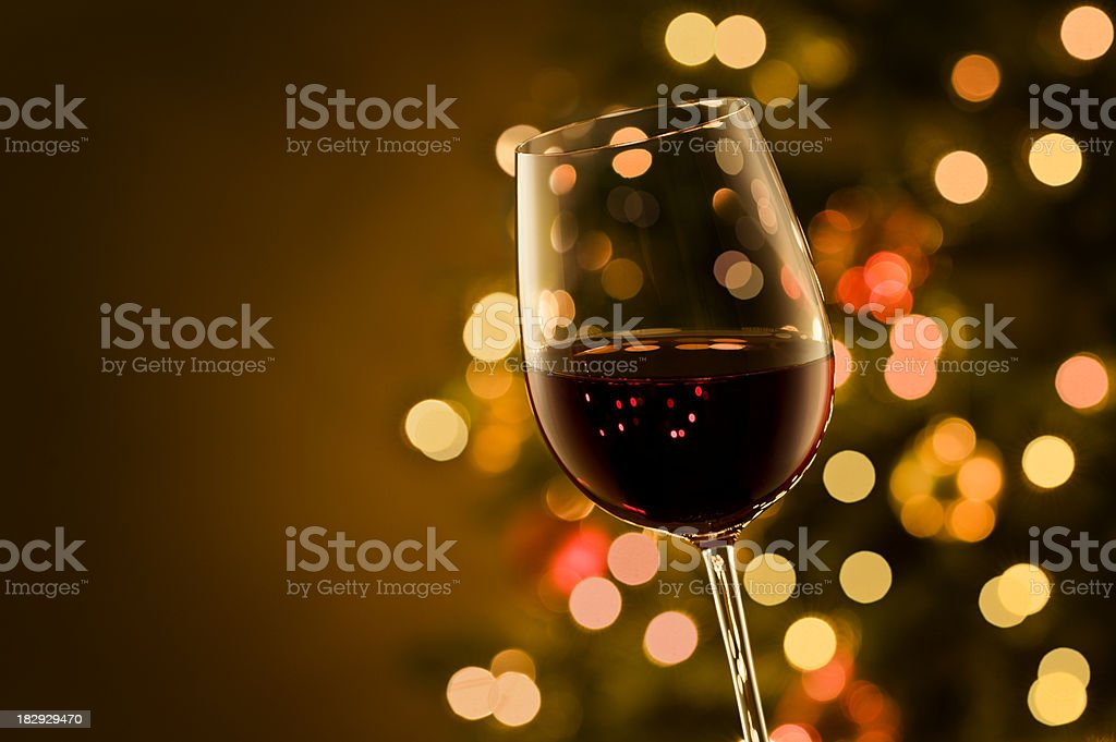 Wine at Christmas royalty-free stock photo