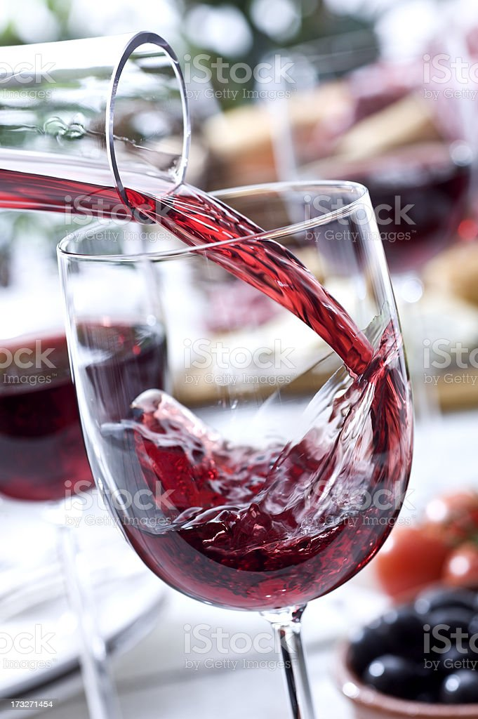 Wine at Picnic royalty-free stock photo