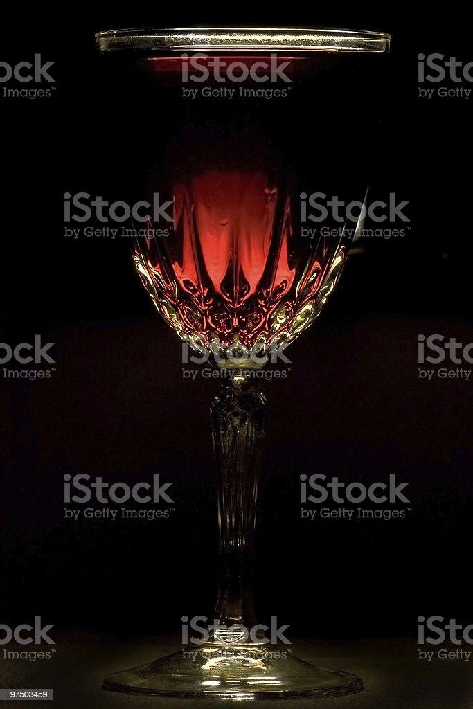 Wine backlight royalty-free stock photo