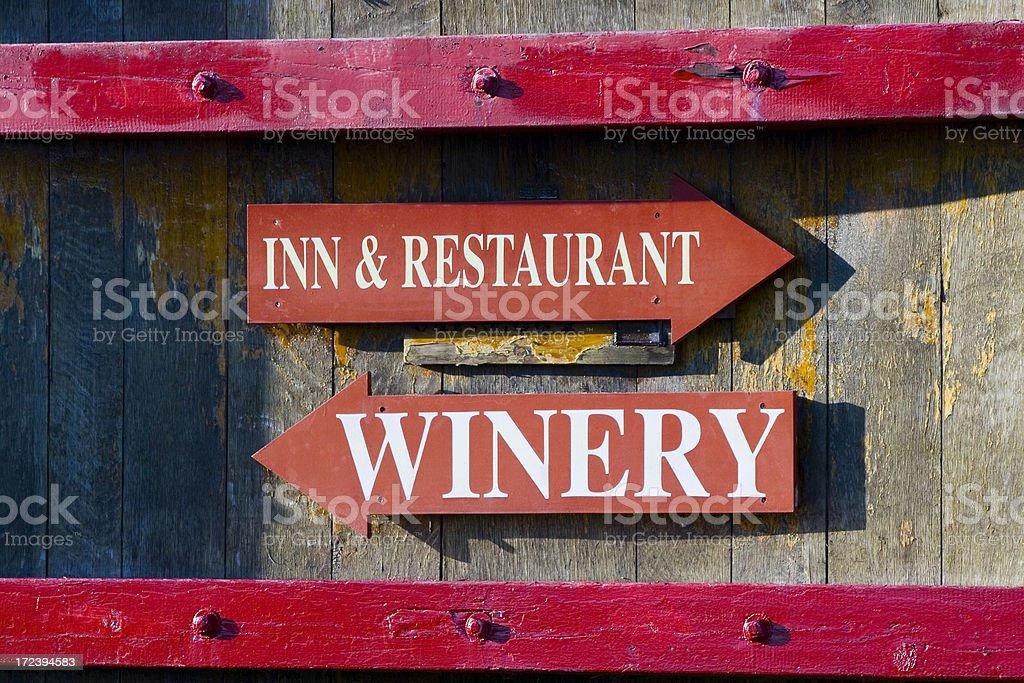 Wine Barrel Arrows royalty-free stock photo