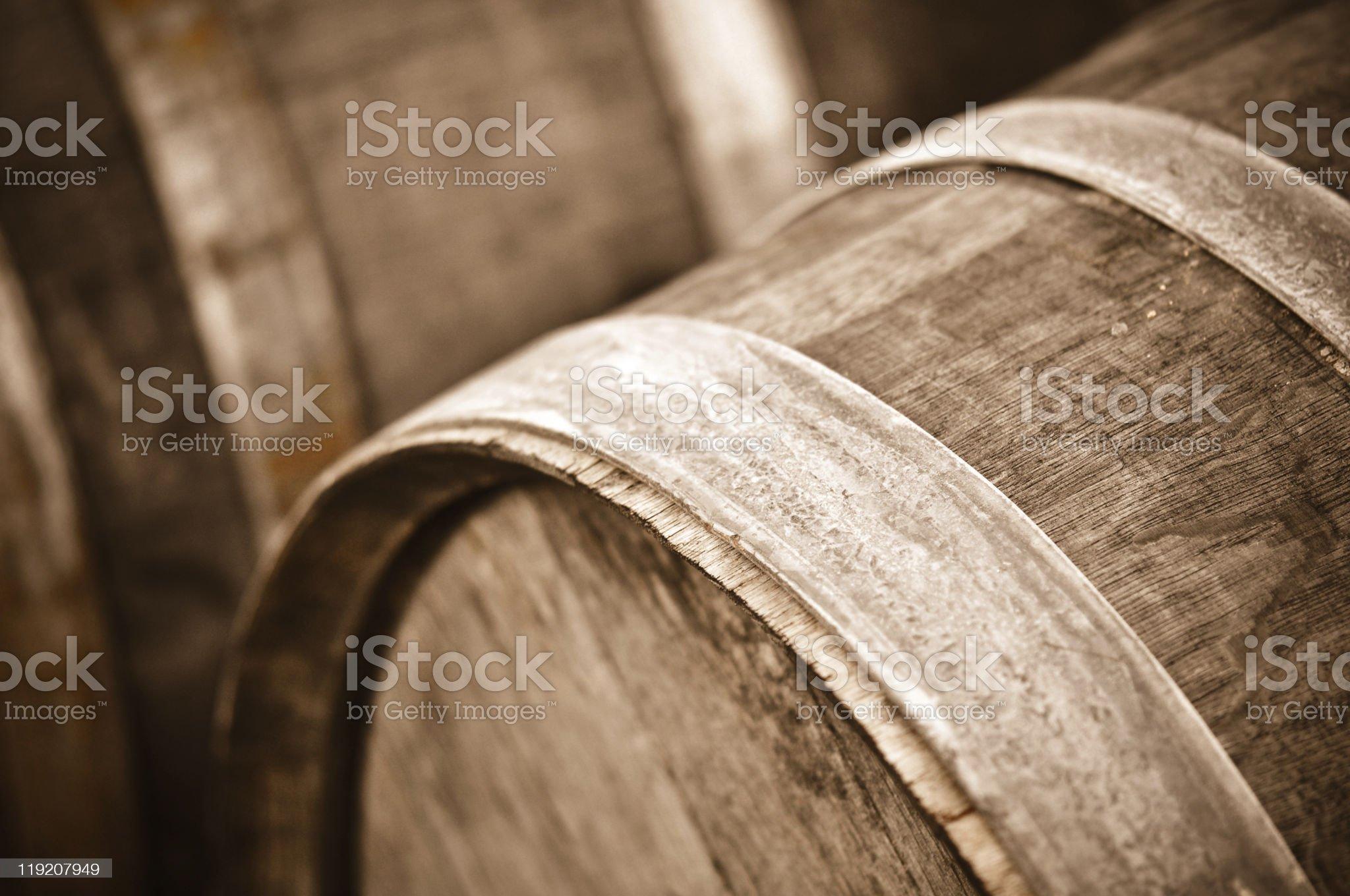 Wine Barrel Close Up Macro royalty-free stock photo