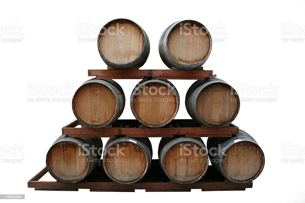 Wine Barrel Pyramid royalty-free stock photo