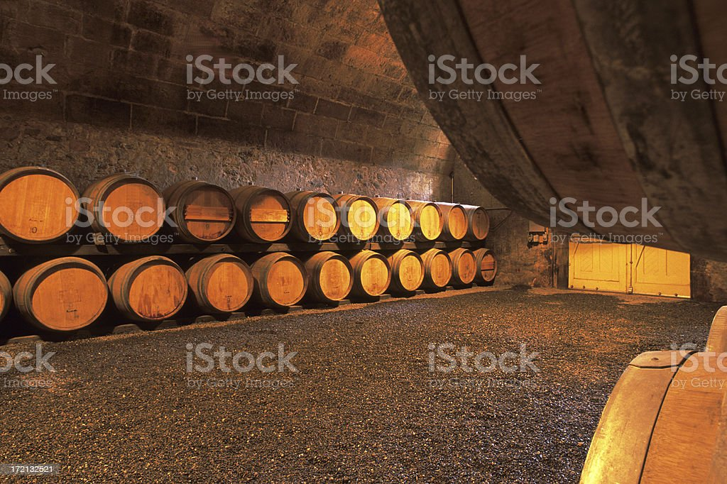 Wine barrels in Napa Valley. royalty-free stock photo