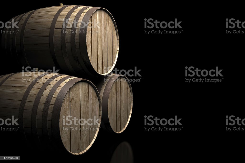 wine barrels of spain royalty-free stock photo