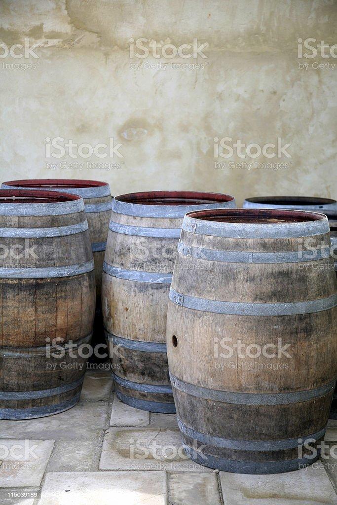 Wine barrels royalty-free stock photo
