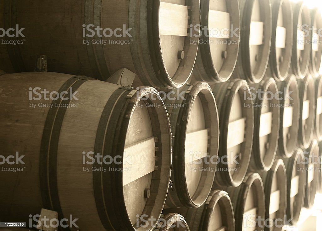 Wine Barrels royalty-free stock photo