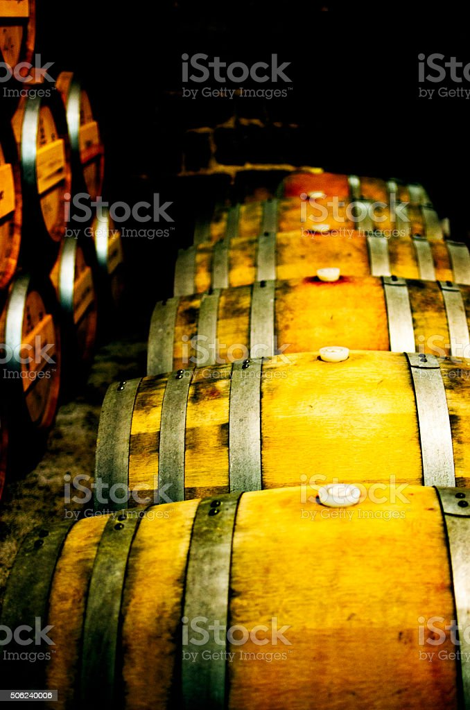 Wine barrles stock photo