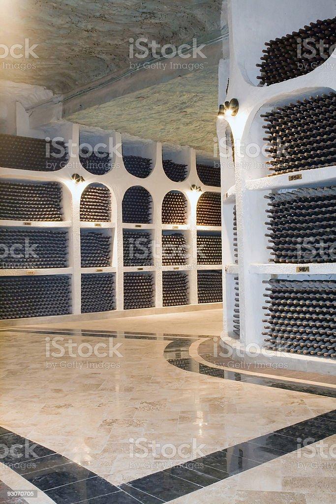 Wine basement royalty-free stock photo