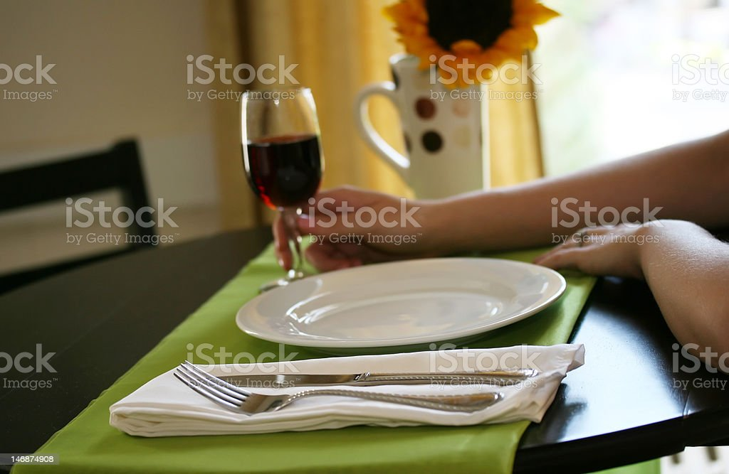 Wine Before Dinner royalty-free stock photo