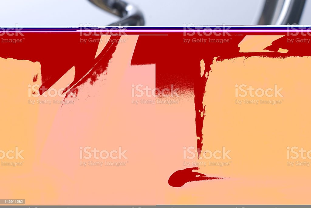 Wine bottle and Corkscrew royalty-free stock photo