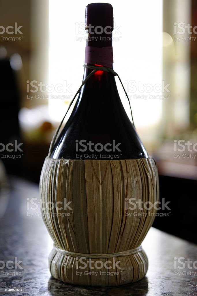 Wine Bottle - Chianti. Color Image royalty-free stock photo