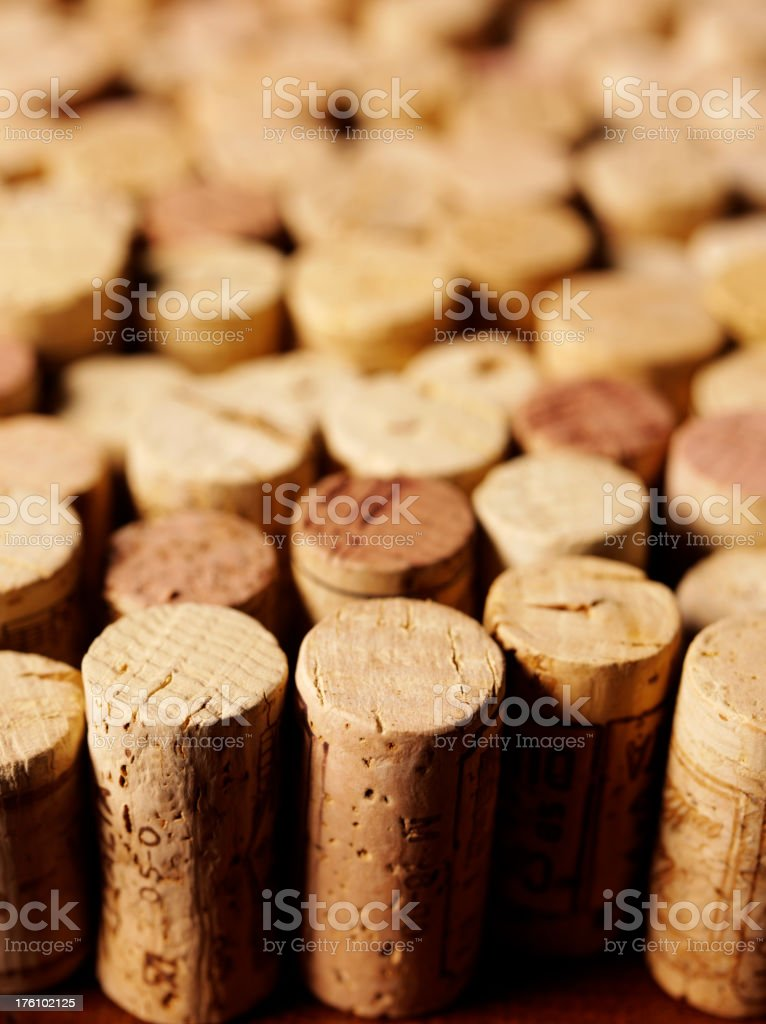 Wine Bottle Corks stock photo
