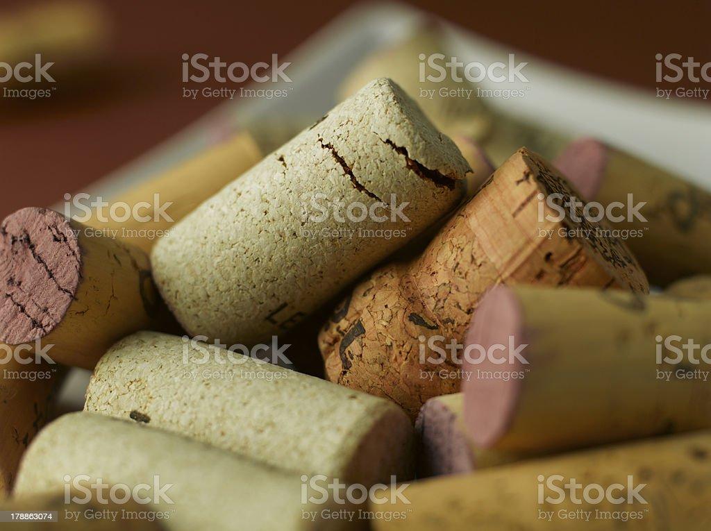 Wine Bottle Corks royalty-free stock photo
