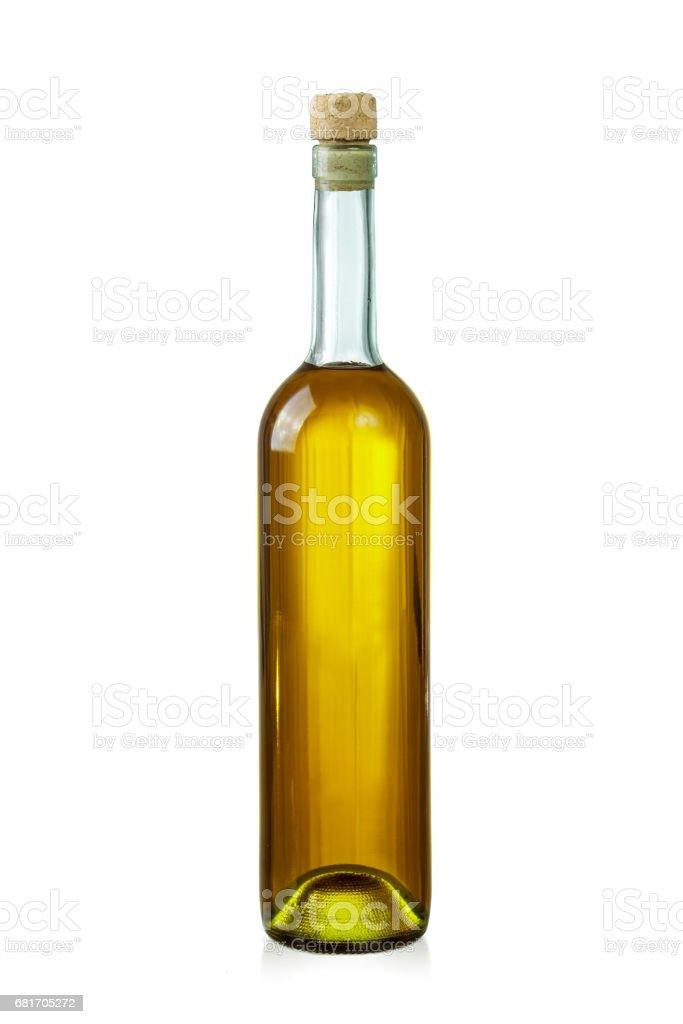 Wine bottle isolated over white stock photo