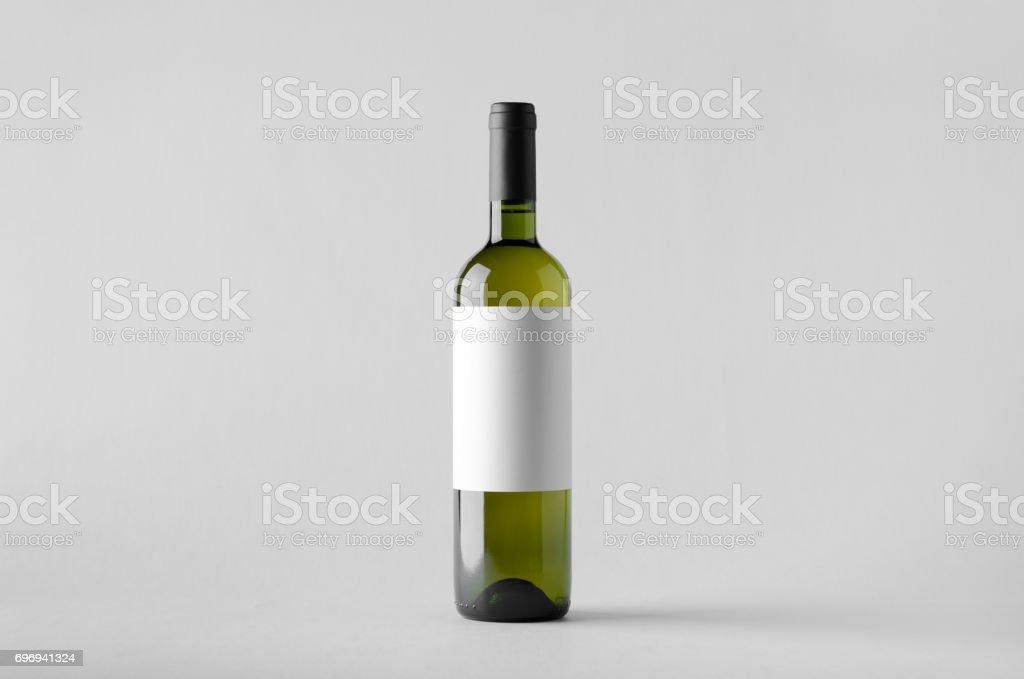 Wine Bottle Mock-Up. Blank Label stock photo