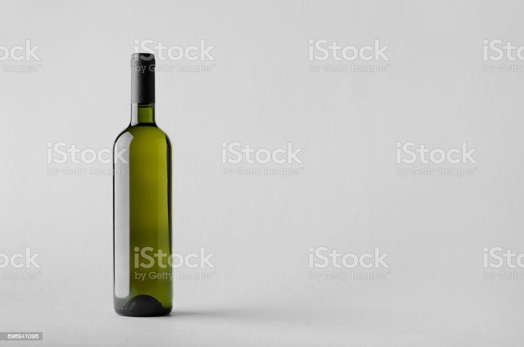 Wine Bottle Mock-Up stock photo