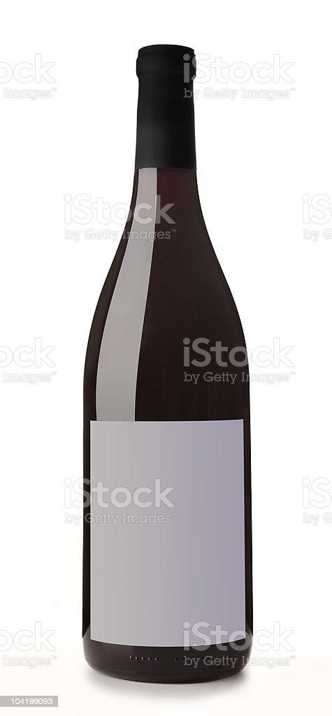 Wine Bottle on White Background royalty-free stock photo