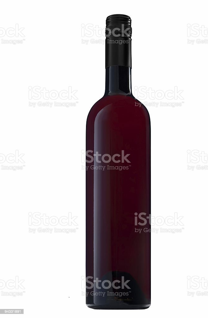 Wine Bottle (clipping path) royalty-free stock photo