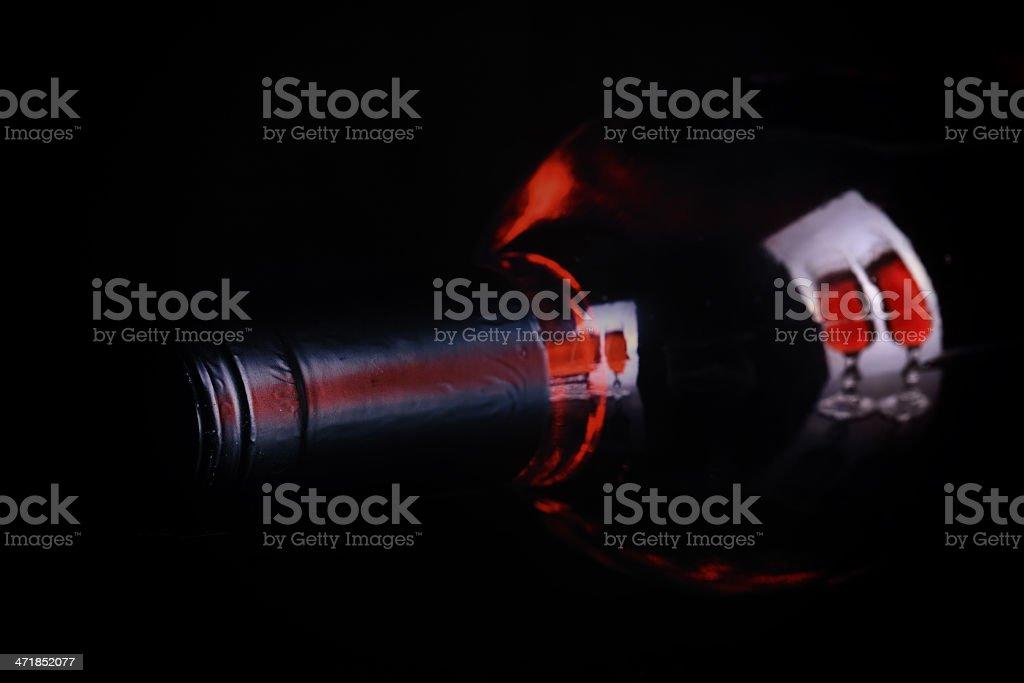 Wine Bottle Reflection royalty-free stock photo