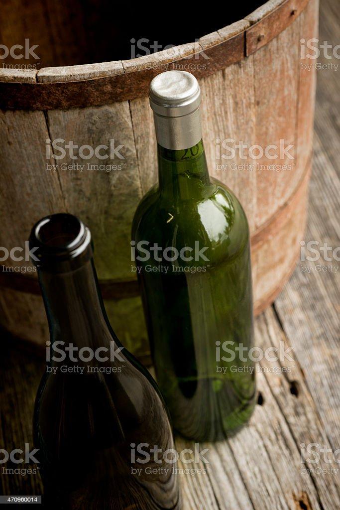 Botella de vino de vida foto de stock libre de derechos