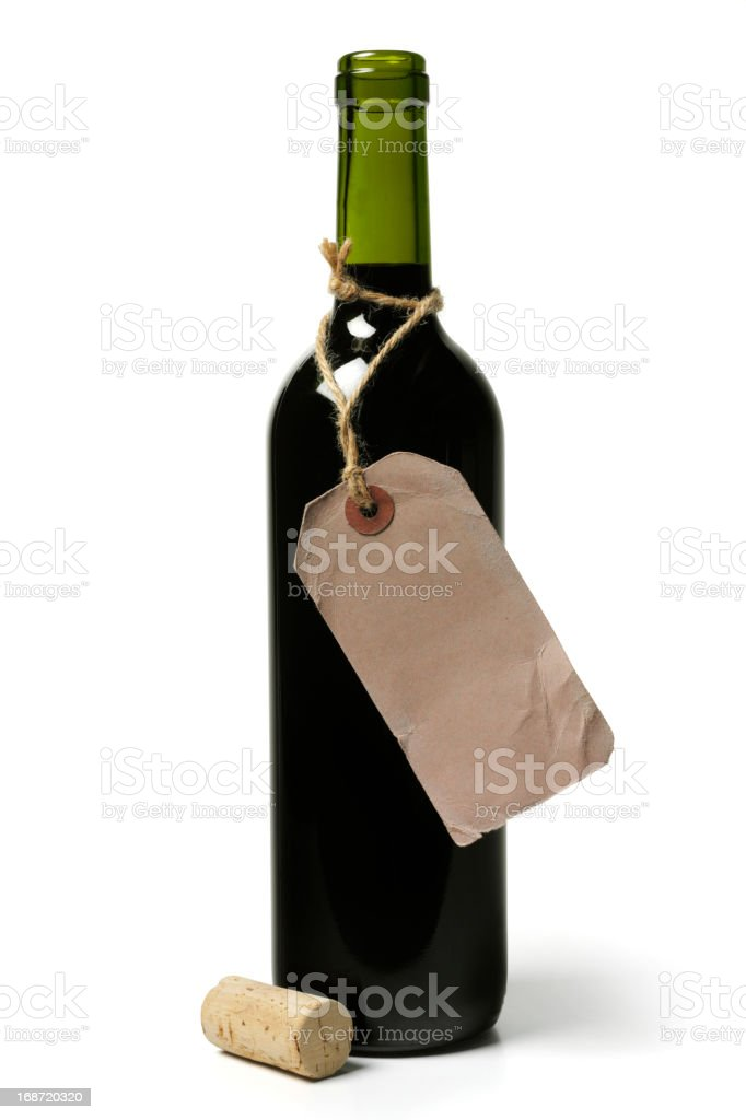 Wine Bottle with Label royalty-free stock photo