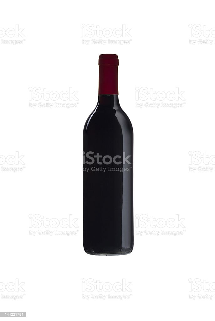 wine bottle without a label royalty-free stock photo