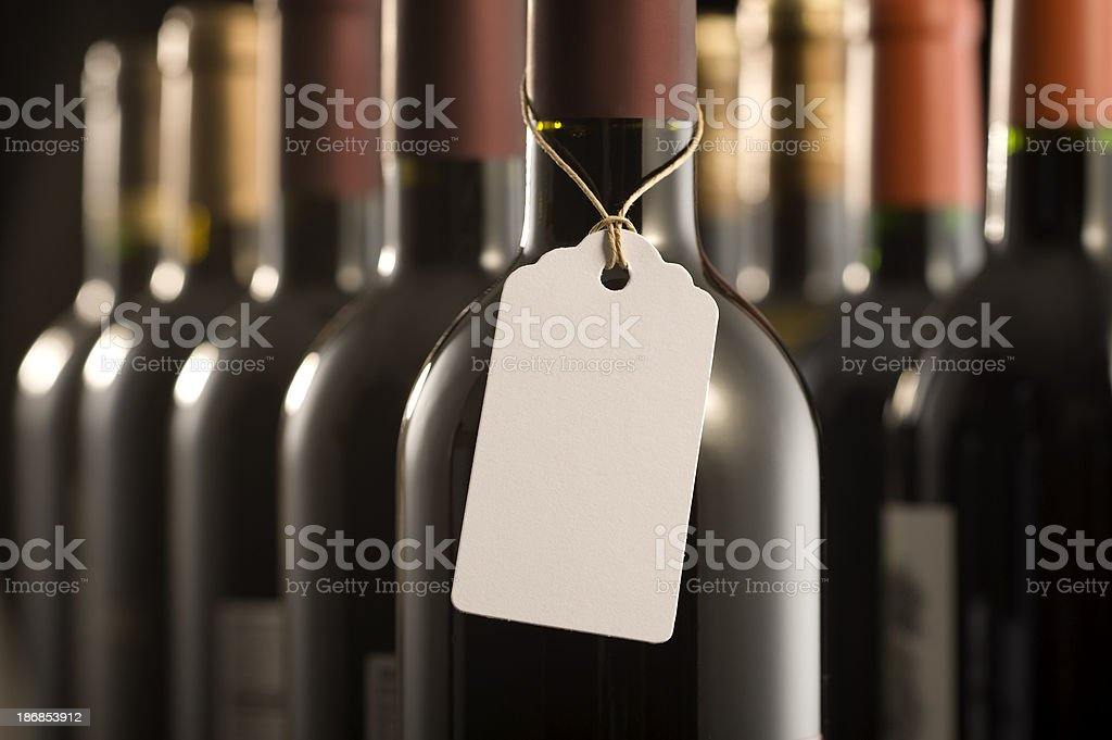 Wine Bottles and Label stock photo