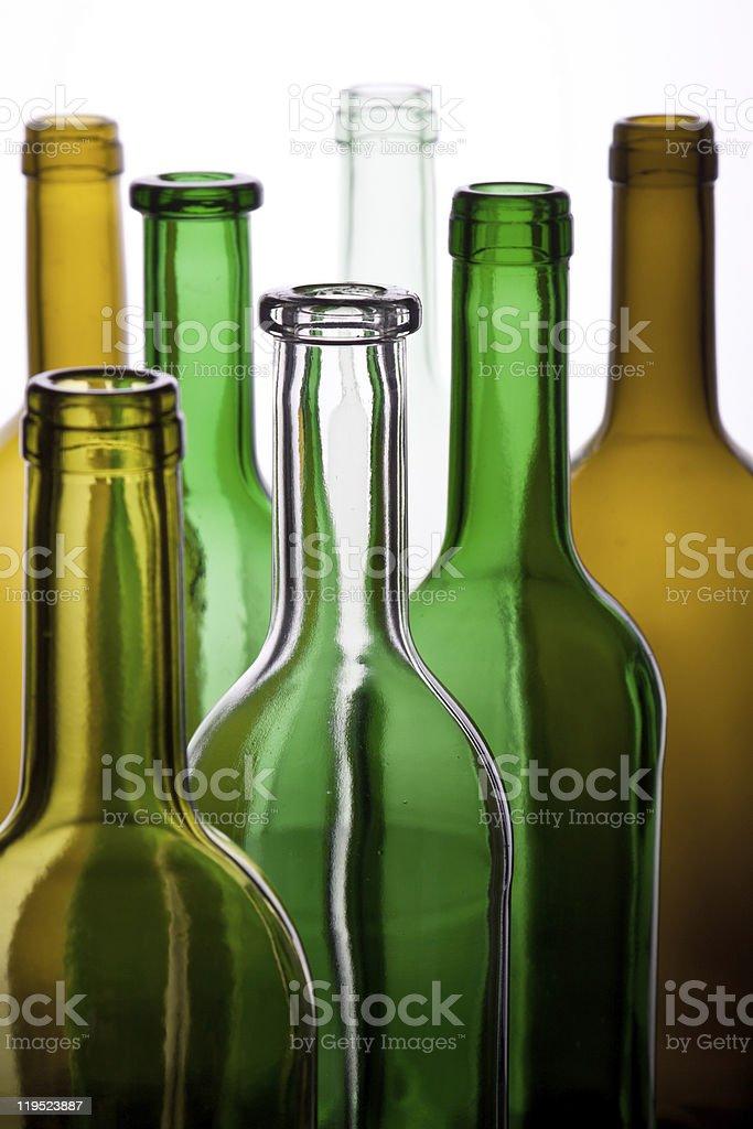 Garrafas de vinho foto de stock royalty-free