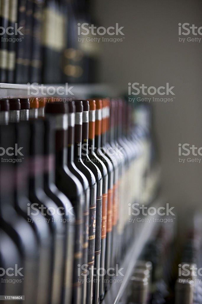 Wine bottles stock photo