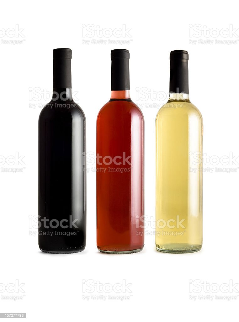 Wine Bottles w/Clipping path royalty-free stock photo