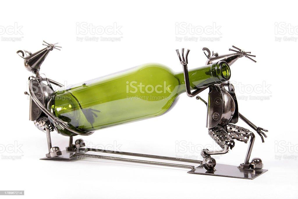 Wine caddy. stock photo