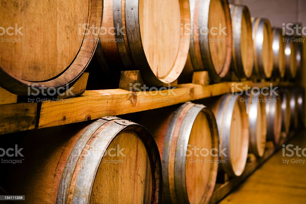 Wine casks (series) stock photo