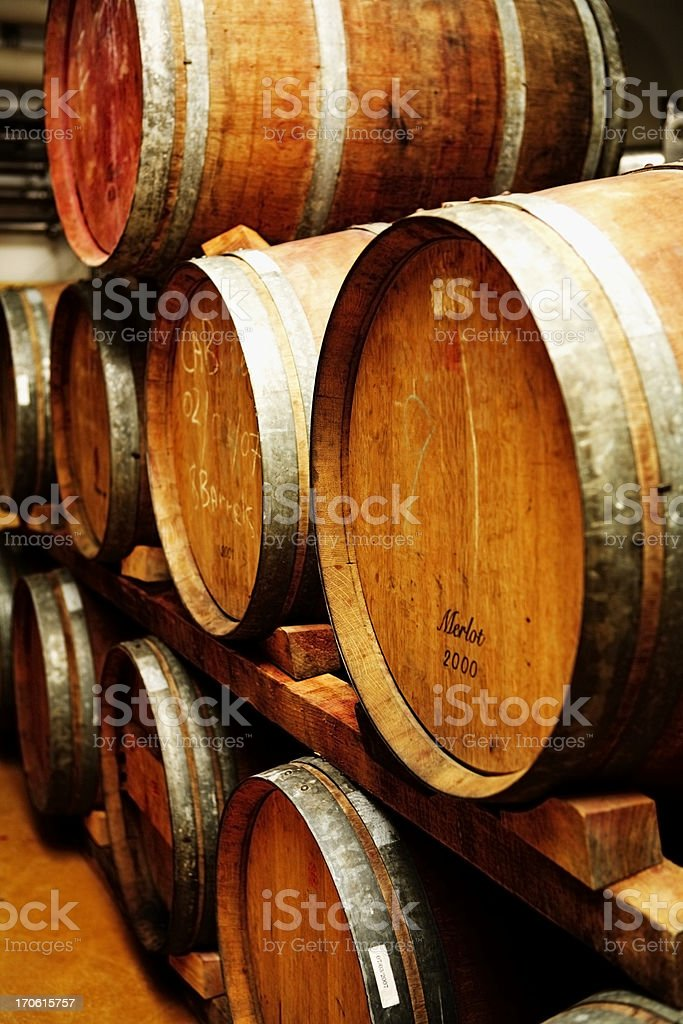 Wine casks royalty-free stock photo