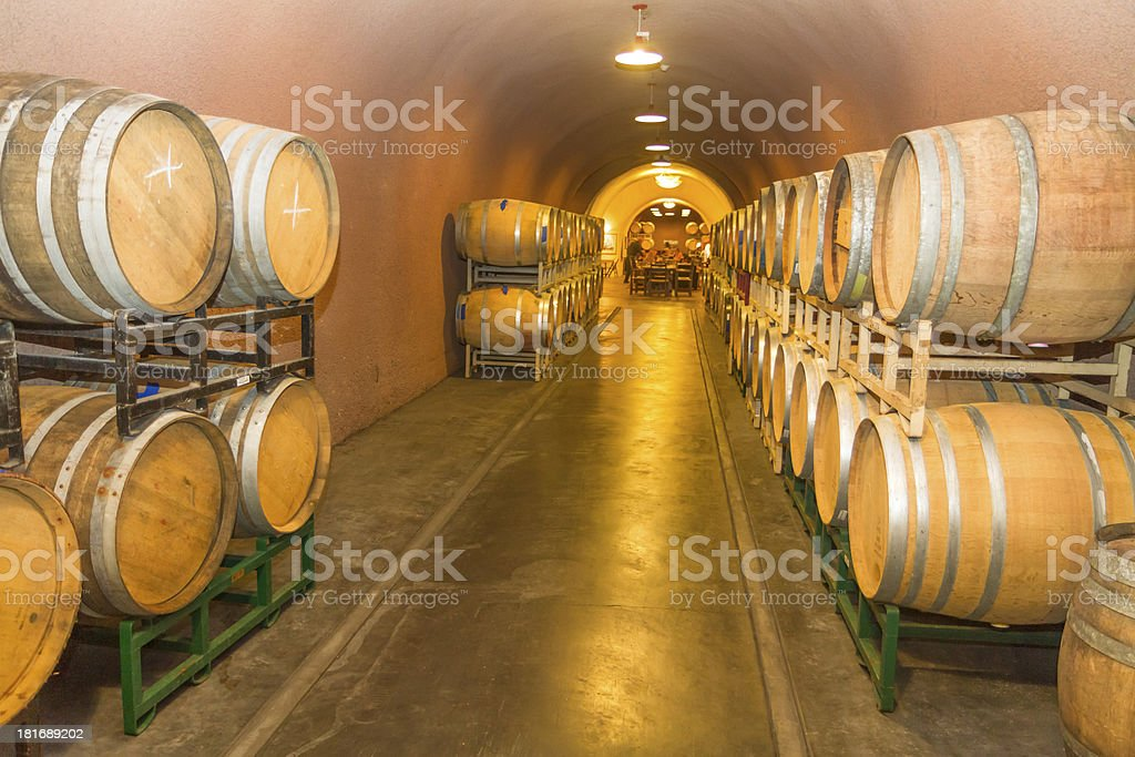 Wine Cave in Napa royalty-free stock photo