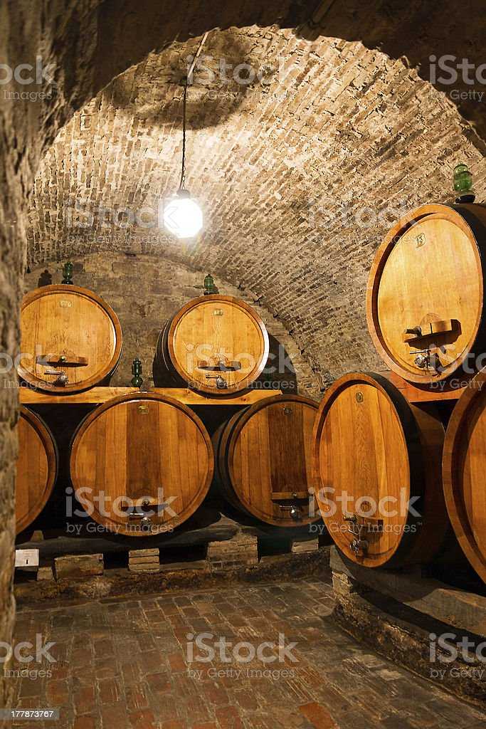 Wine cellar arch royalty-free stock photo