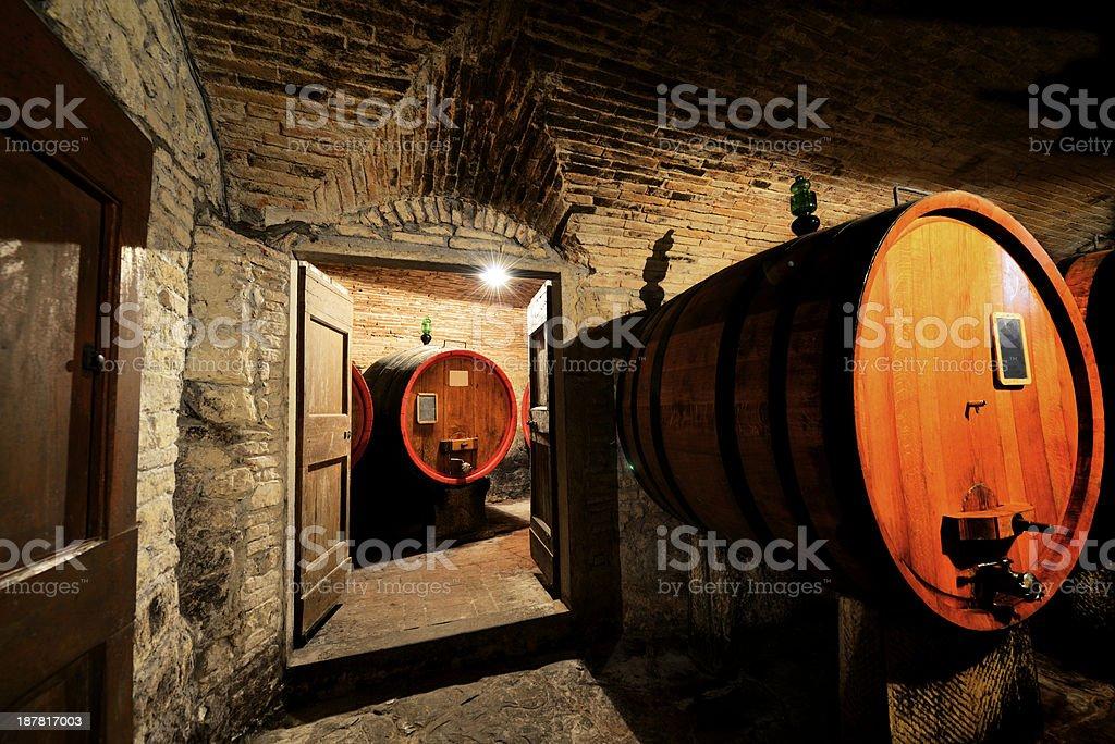 Wine Cellar in Chianti region royalty-free stock photo