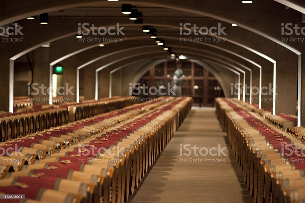 Wine cellar in Napa Valley California royalty-free stock photo