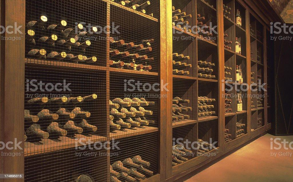 Wine cellar in Napa Valley. royalty-free stock photo