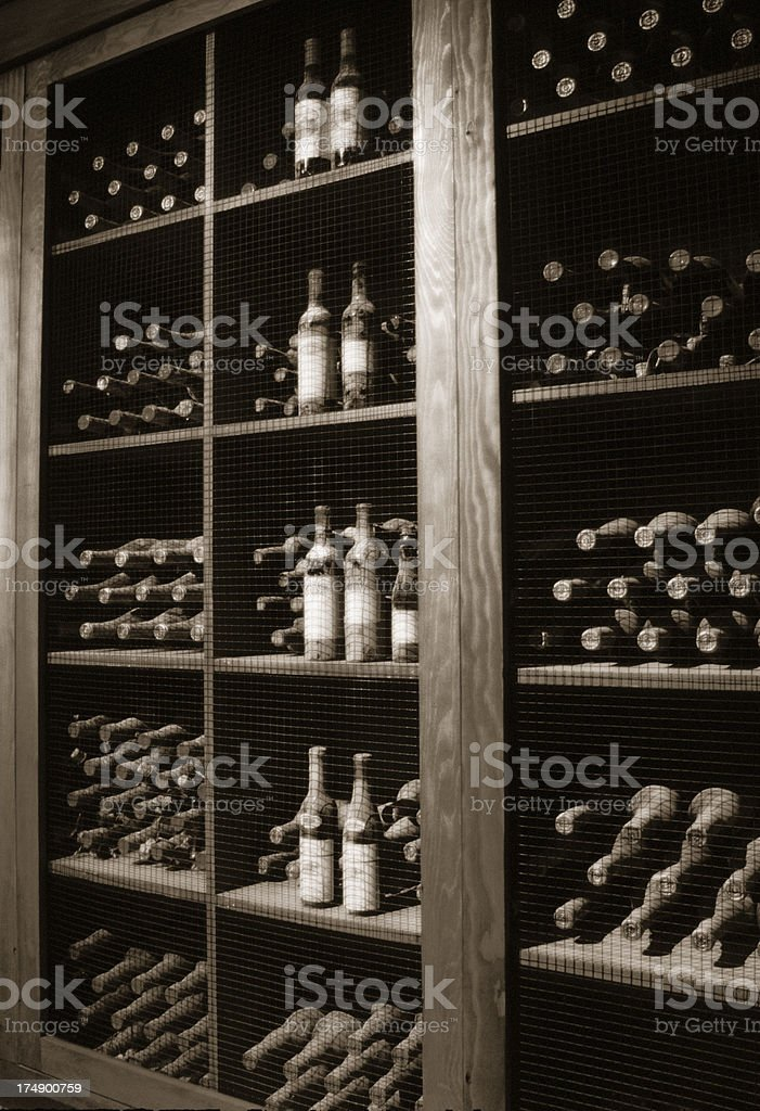 Wine cellar in Napa Valley. royalty-free stock photo