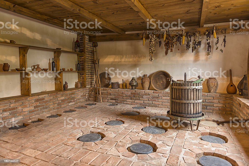 Wine Cellar in Telavi royalty-free stock photo