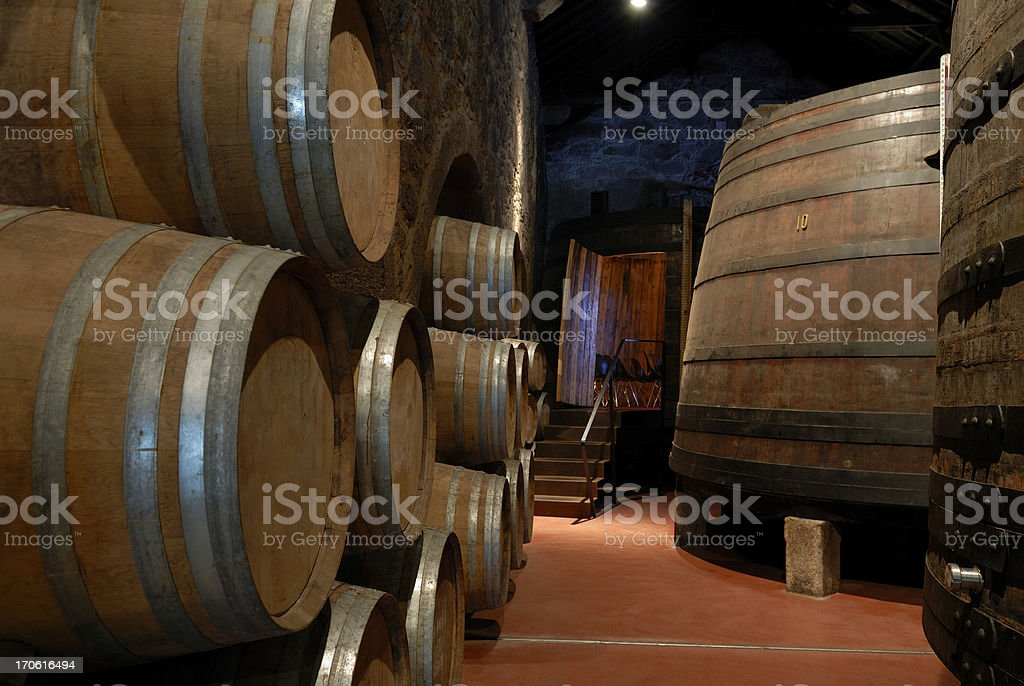 Wine cellar ( Port ) royalty-free stock photo