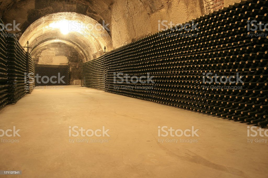 wine cellar royalty-free stock photo