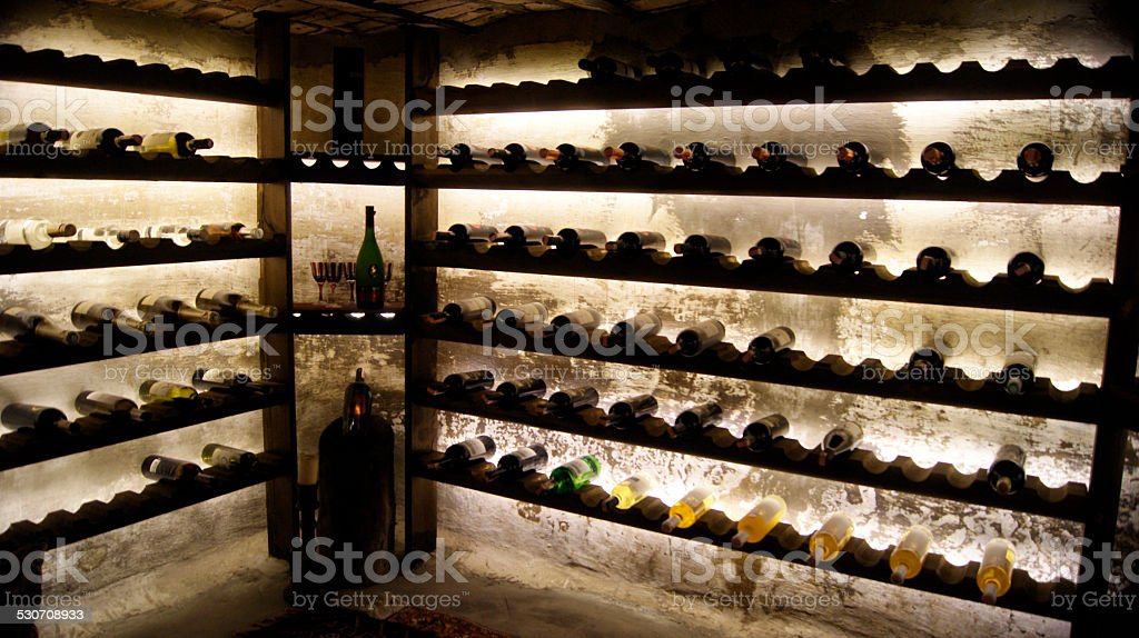 Wine Cellar stock photo