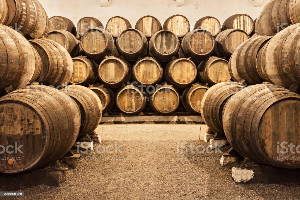 Wine cellar, Porto stock photo